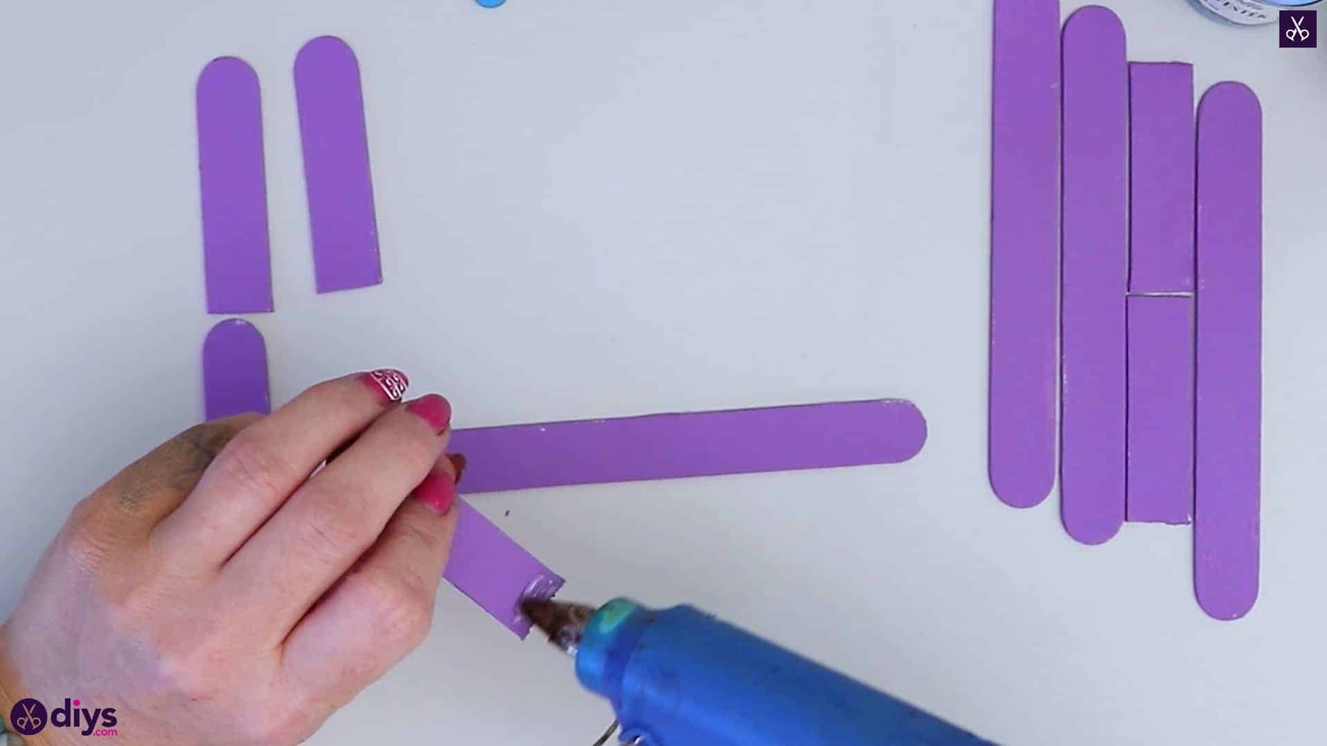 Popsicle stick napkin holder step 5