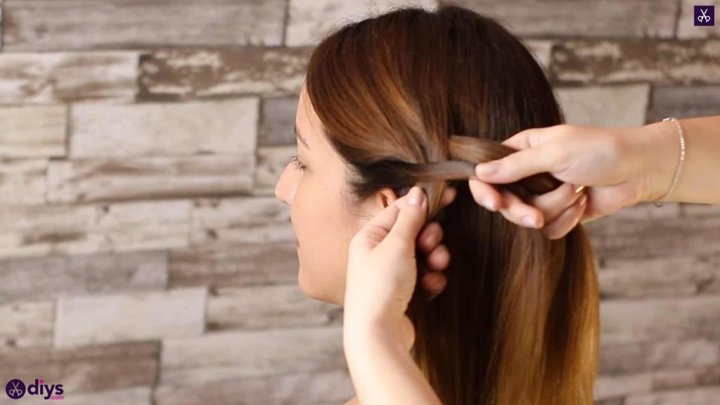 Romantic prom hairstyle tutorial step 1d