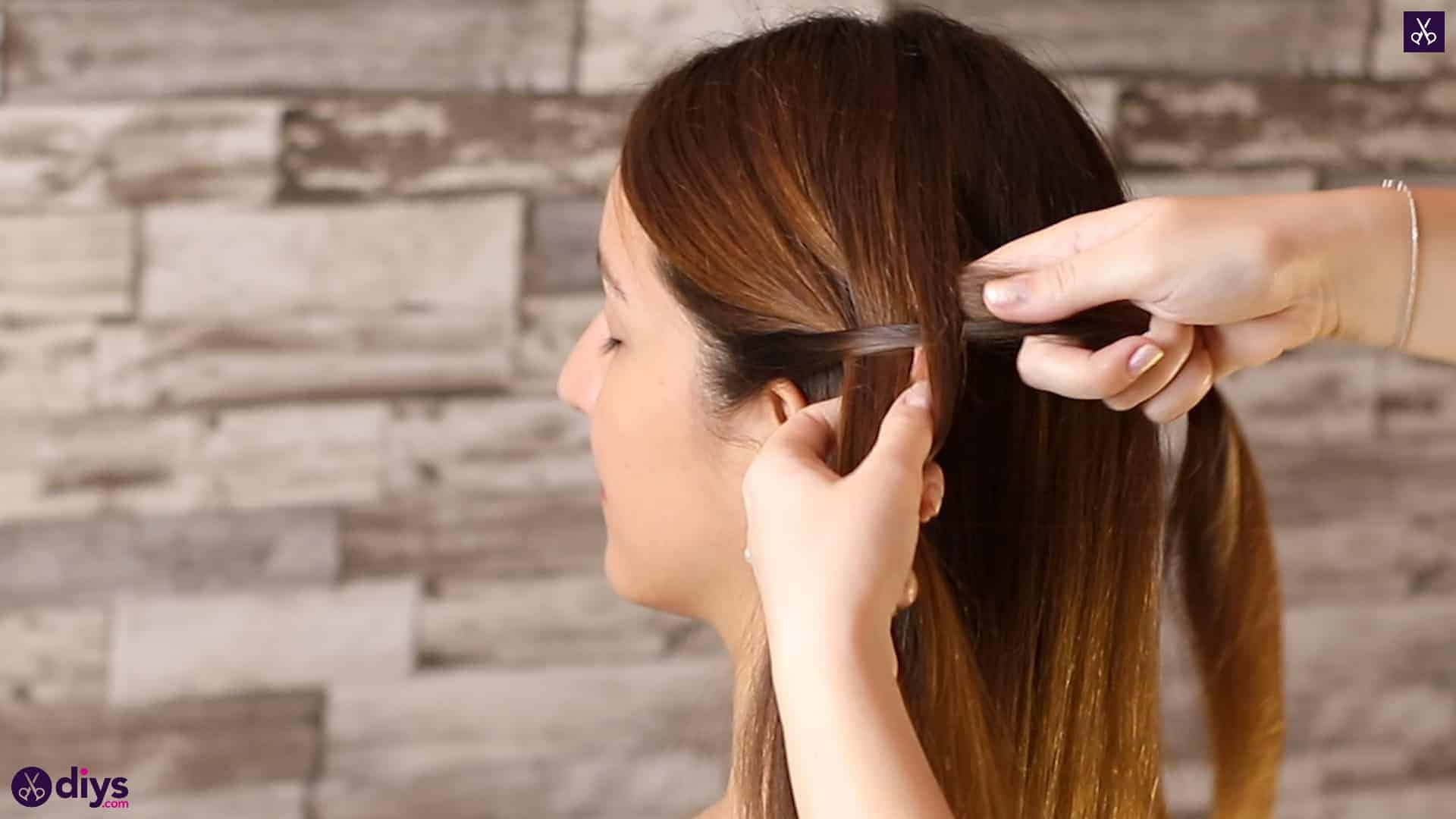 Romantic prom hairstyle tutorial step 1e