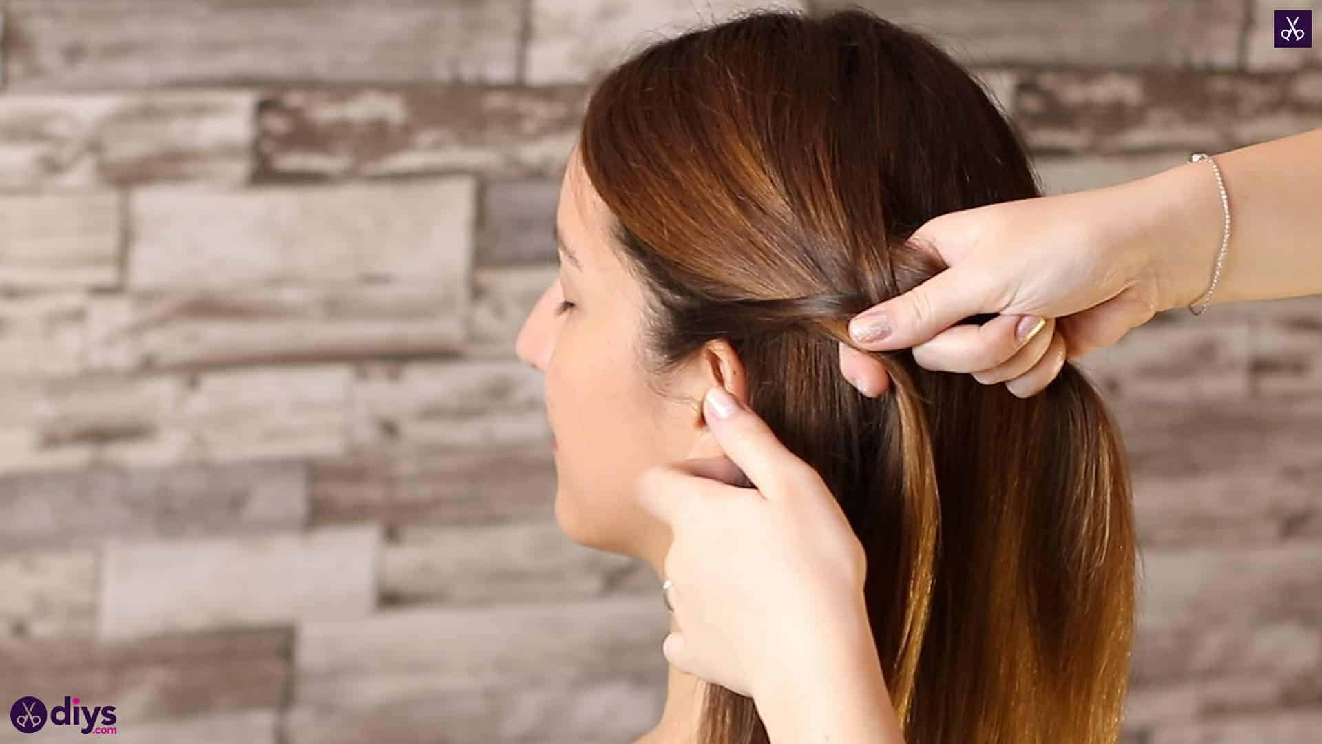 Romantic prom hairstyle tutorial step 1f