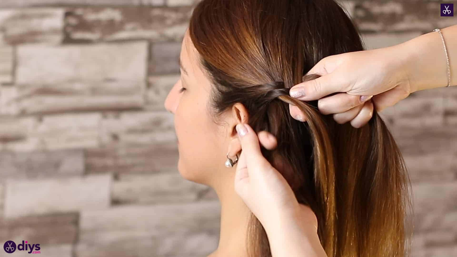 Romantic prom hairstyle tutorial step 1g
