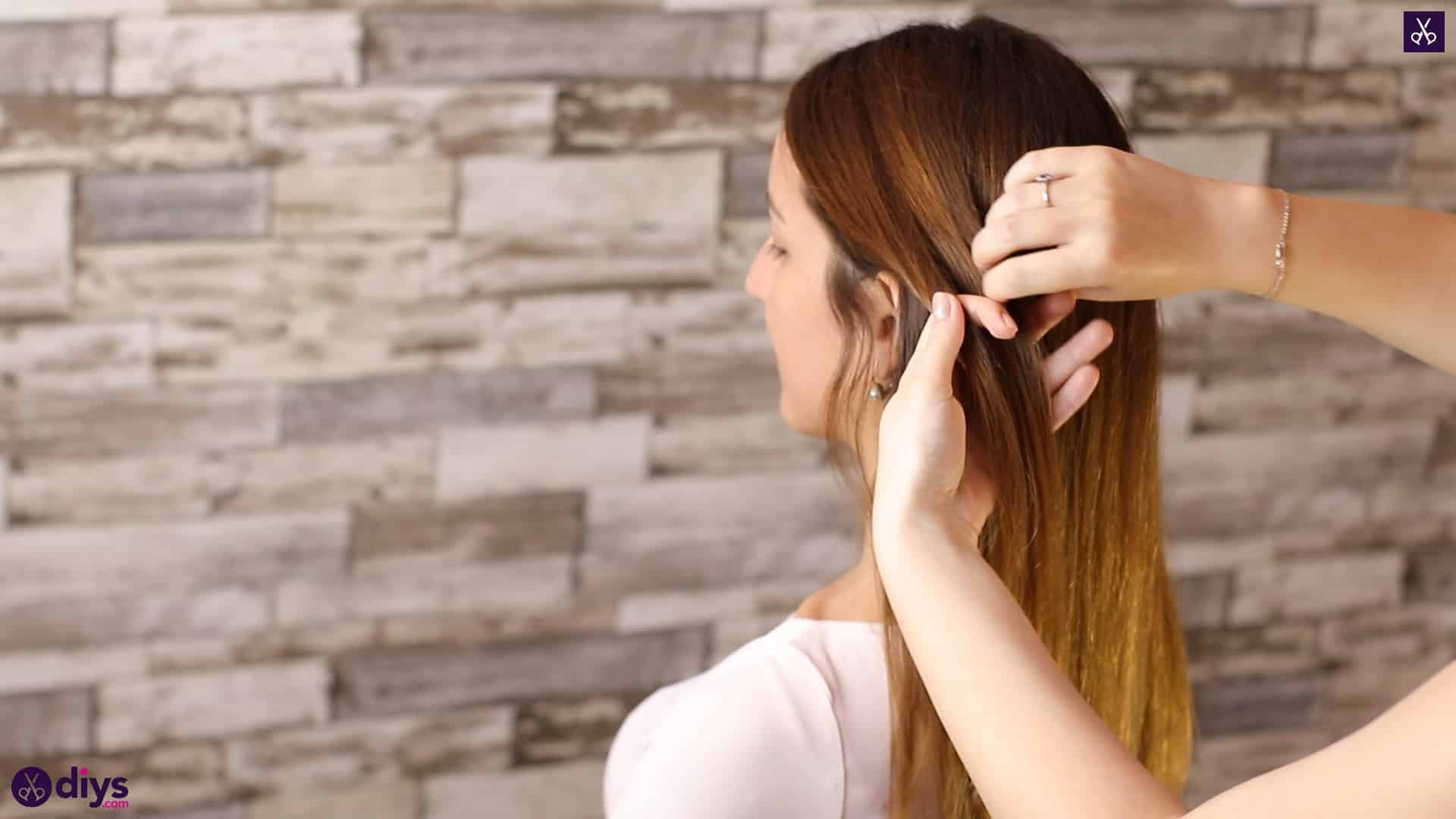 Romantic prom hairstyle tutorial step 1s