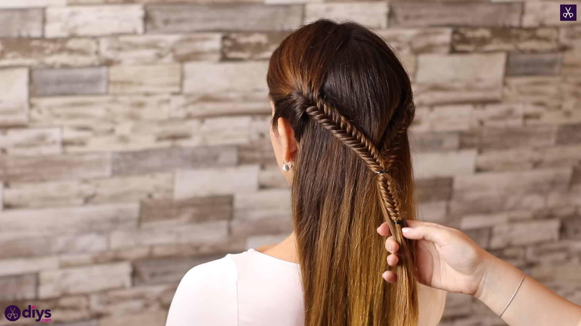 Romantic prom hairstyle tutorial step 2c