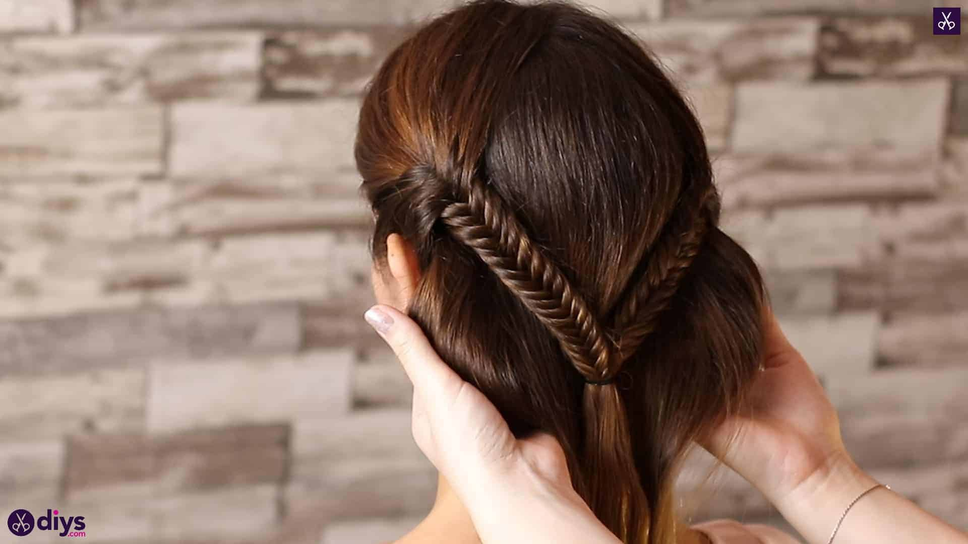 Romantic prom hairstyle tutorial step 3