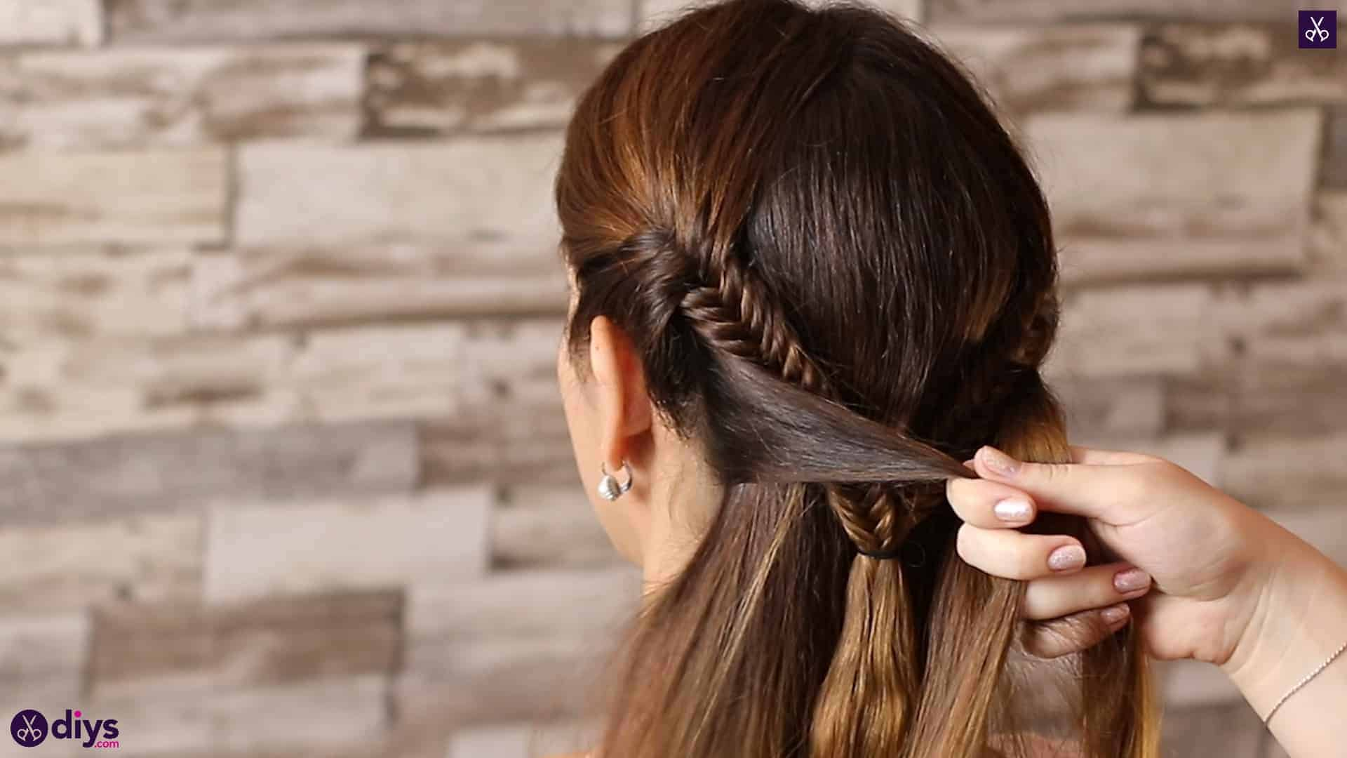 Romantic prom hairstyle tutorial step 3a