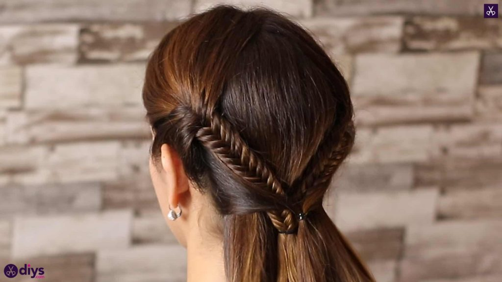 Romantic prom hairstyle tutorial step 3c