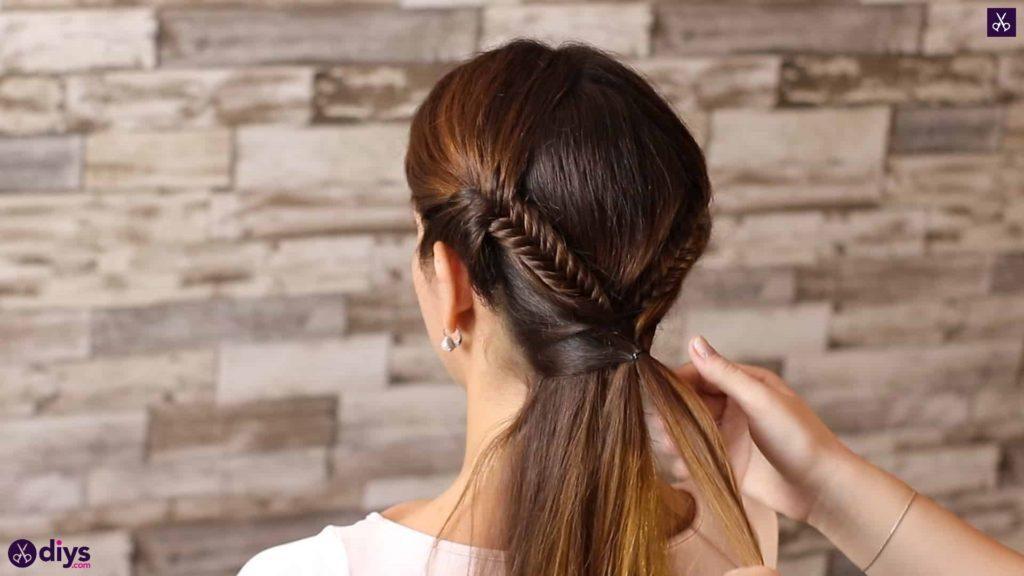 Romantic prom hairstyle tutorial step 4c