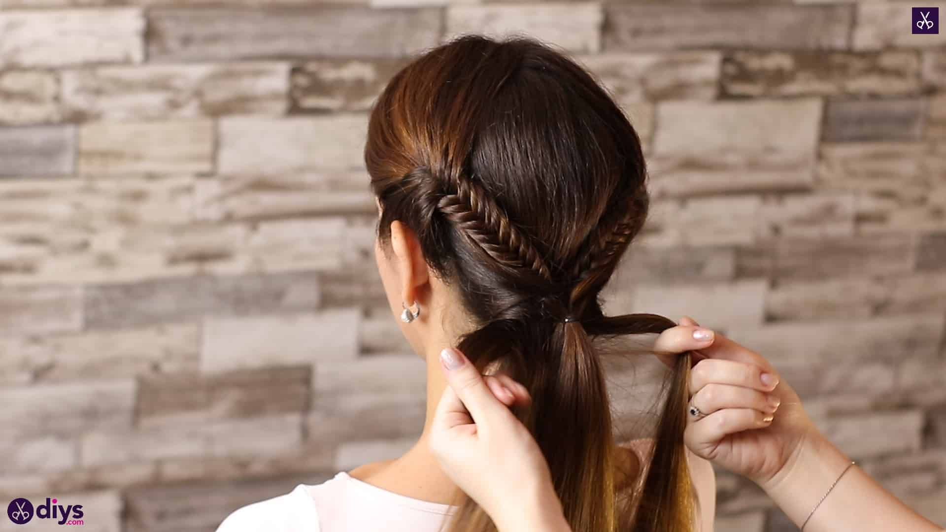 Romantic prom hairstyle tutorial step 4d