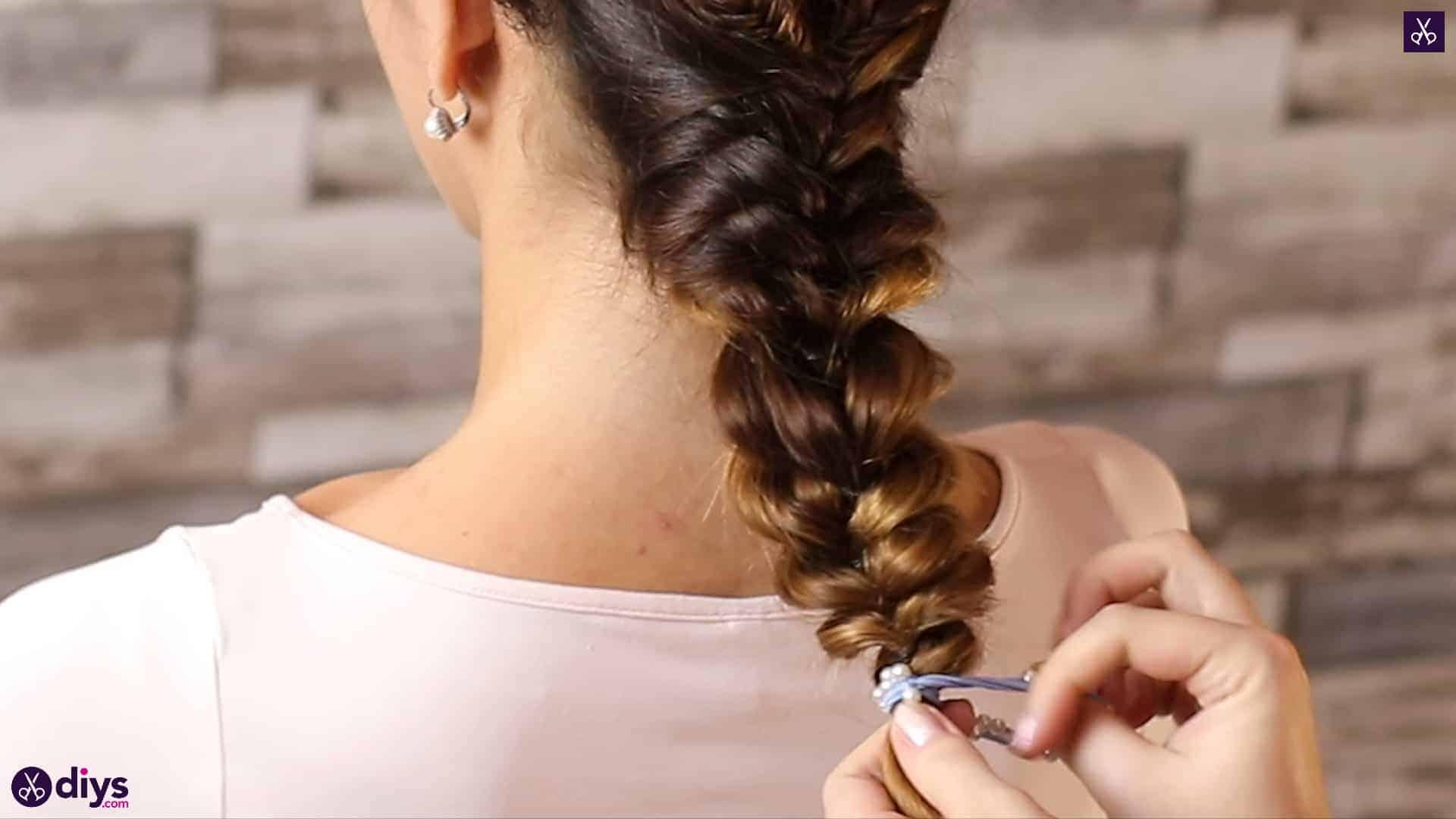 Romantic prom hairstyle tutorial step 5c