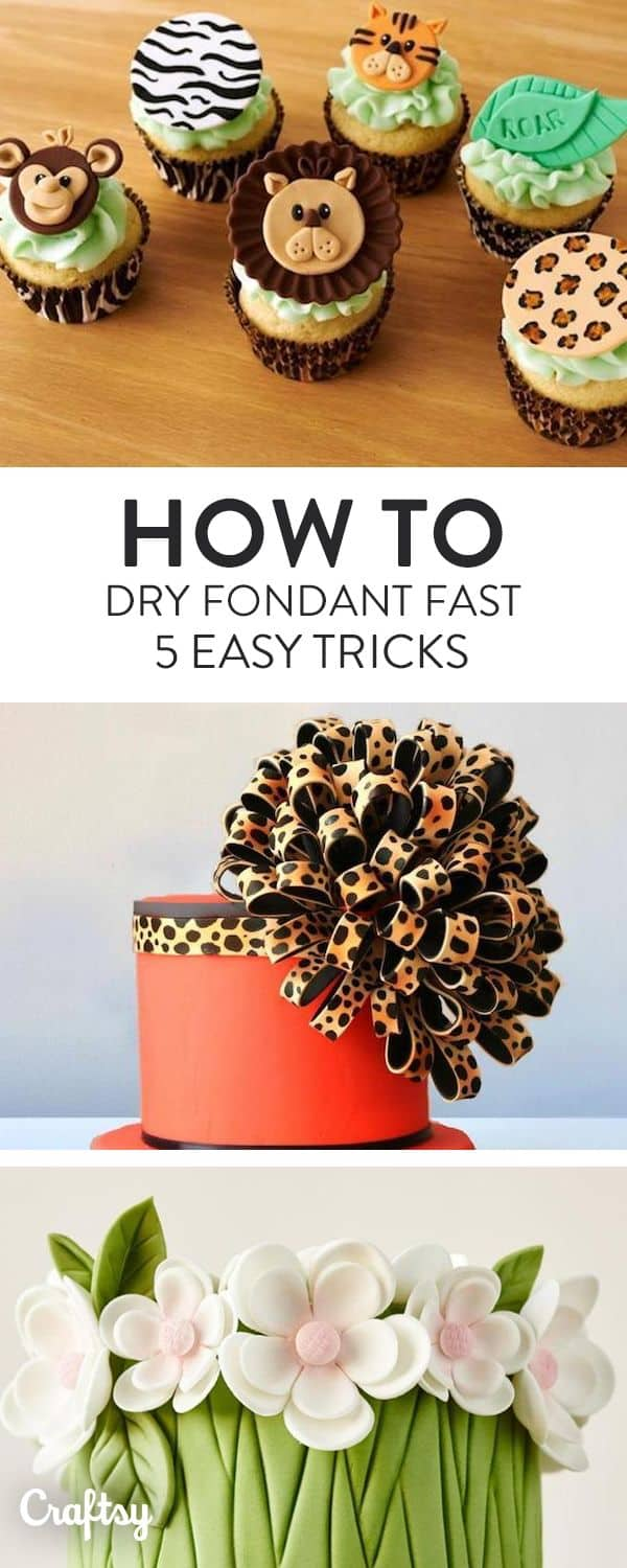 Tricks for drying fondant when you make shapes