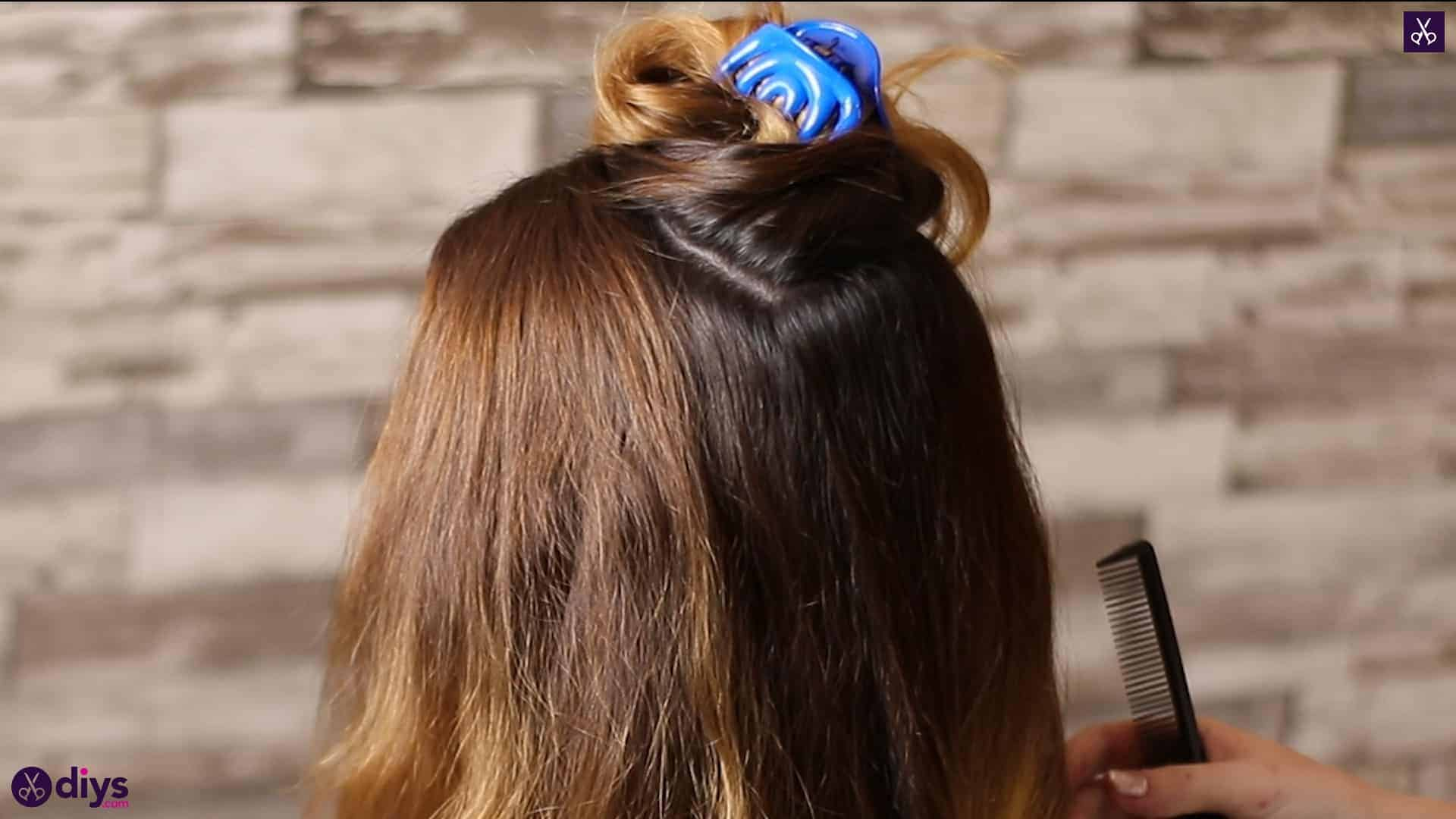 Updo hairstyle for wavy hair 10