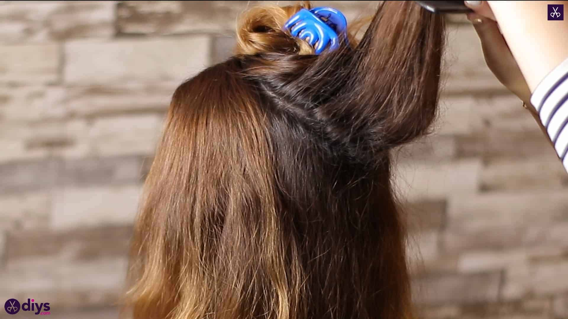 Updo hairstyle for wavy hair 11