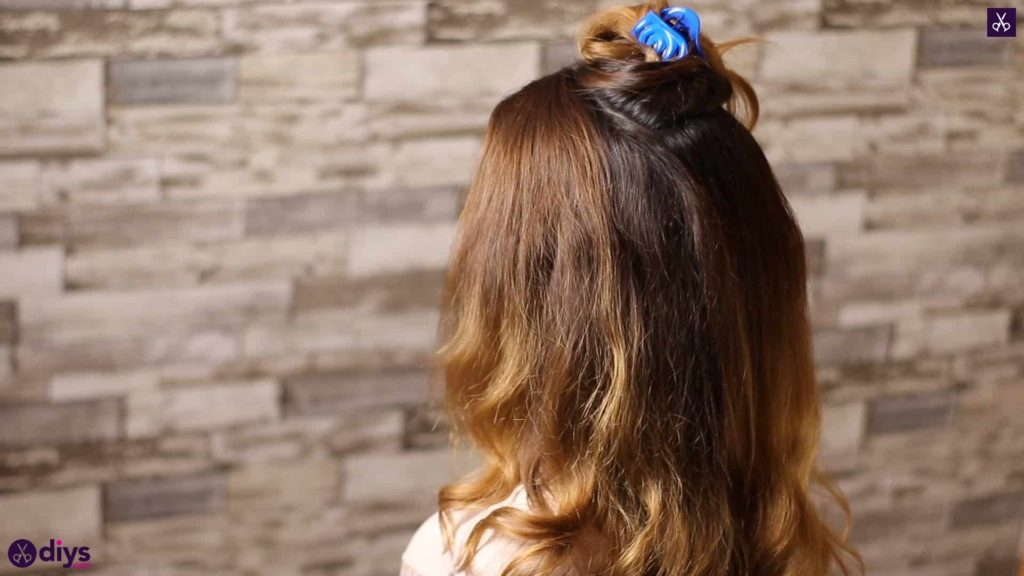 Updo hairstyle for wavy hair 12
