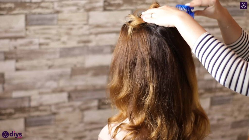 Updo hairstyle for wavy hair 13