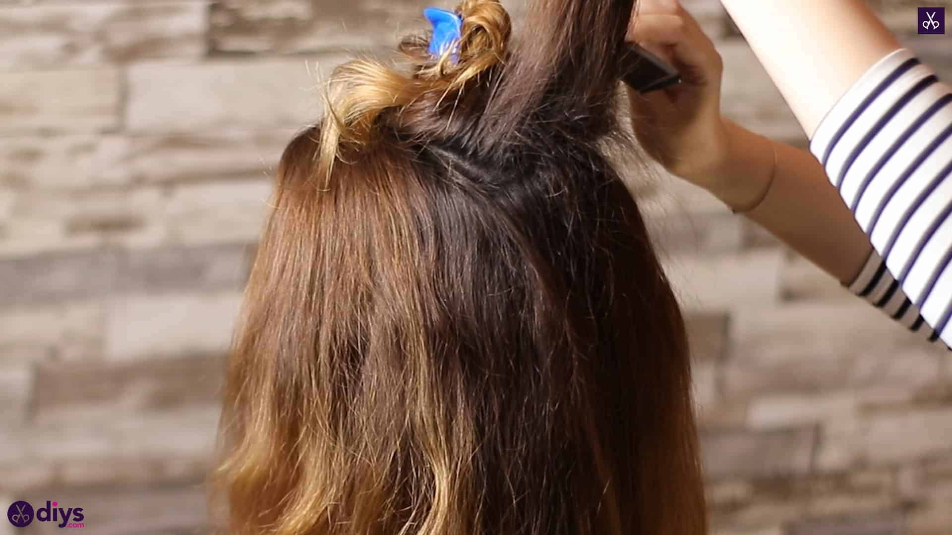 Updo hairstyle for wavy hair 17