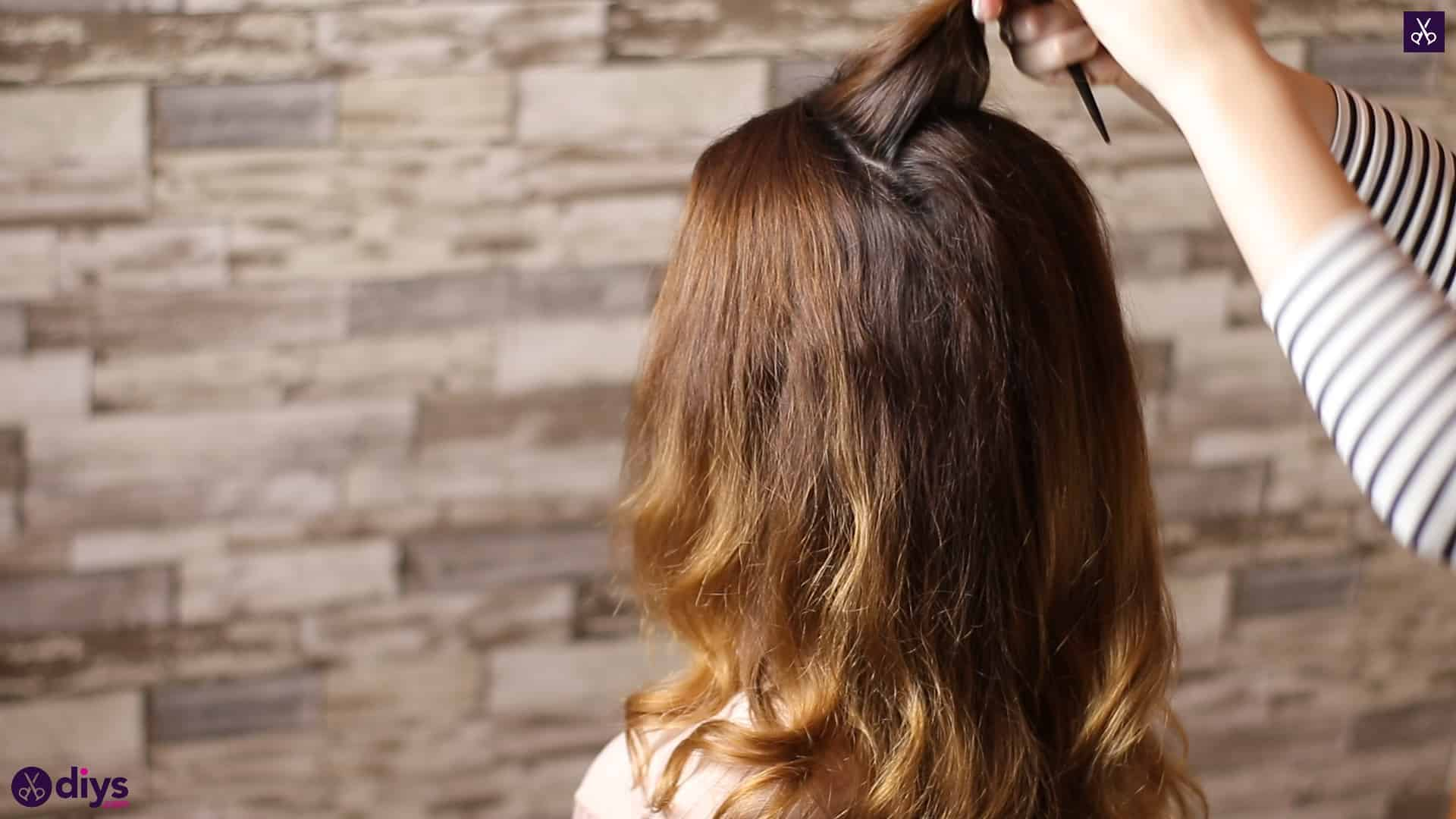 Updo hairstyle for wavy hair 19