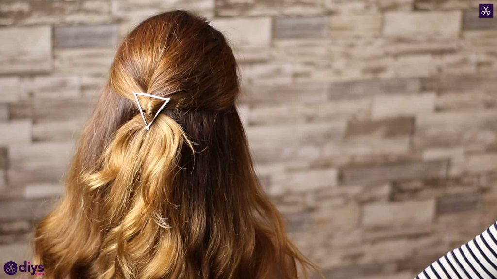 Updo hairstyle for wavy hair 3