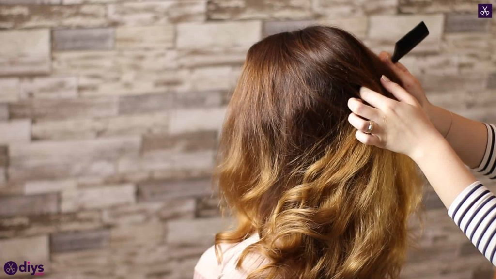 Updo hairstyle for wavy hair 7