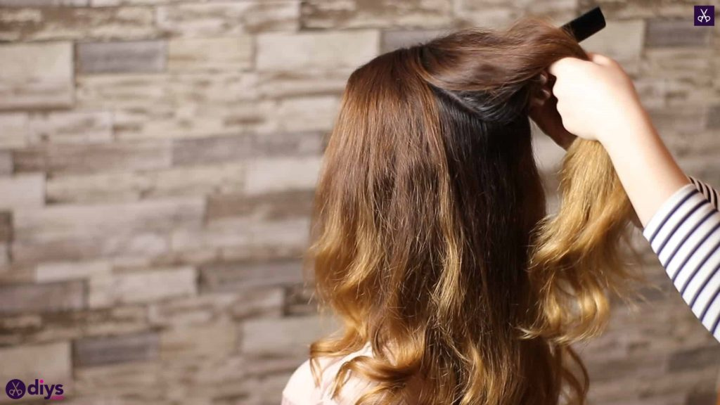 Updo hairstyle for wavy hair 8
