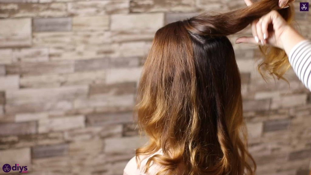 Updo hairstyle for wavy hair 9