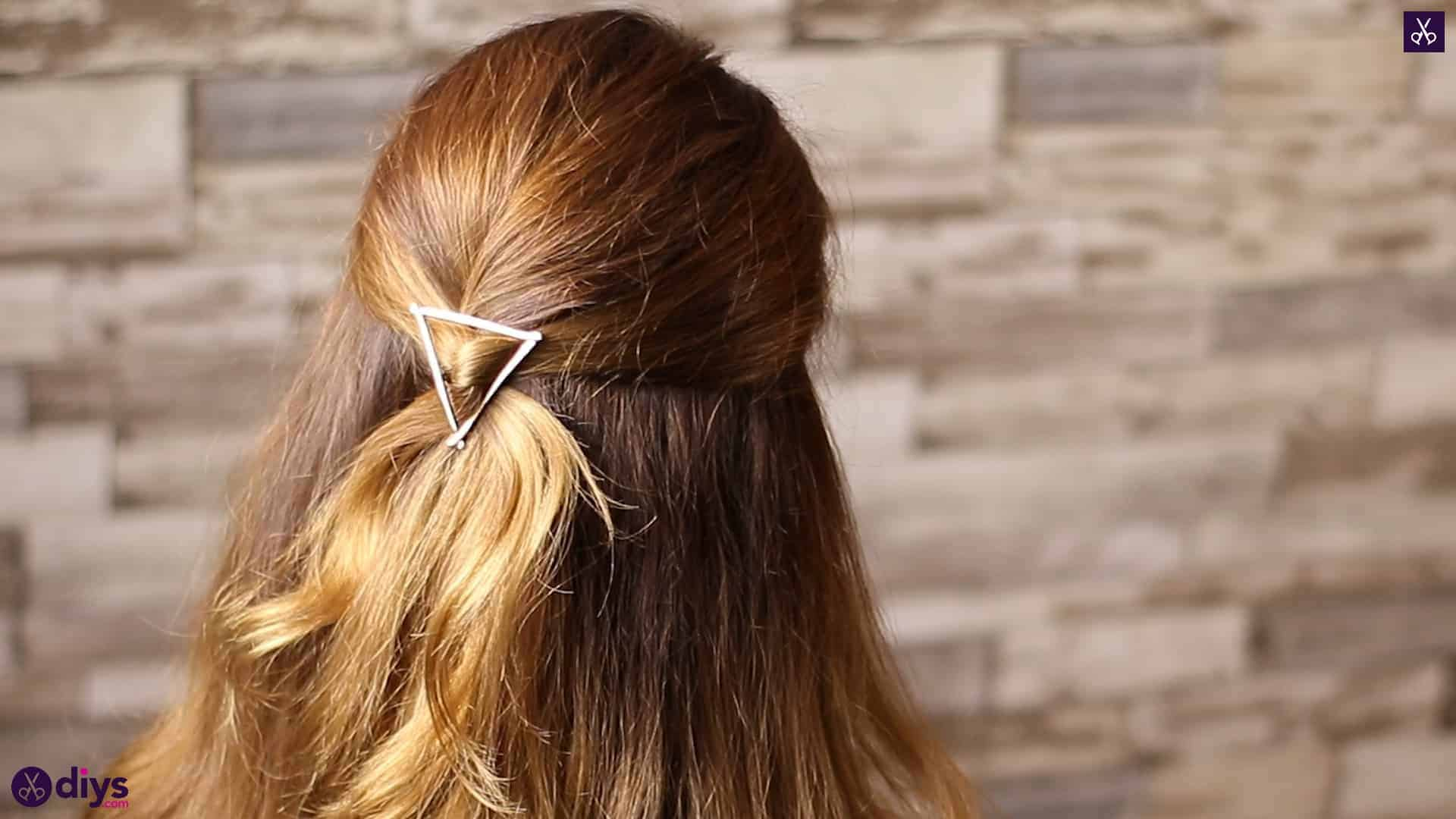 Updo hairstyle for wavy hair