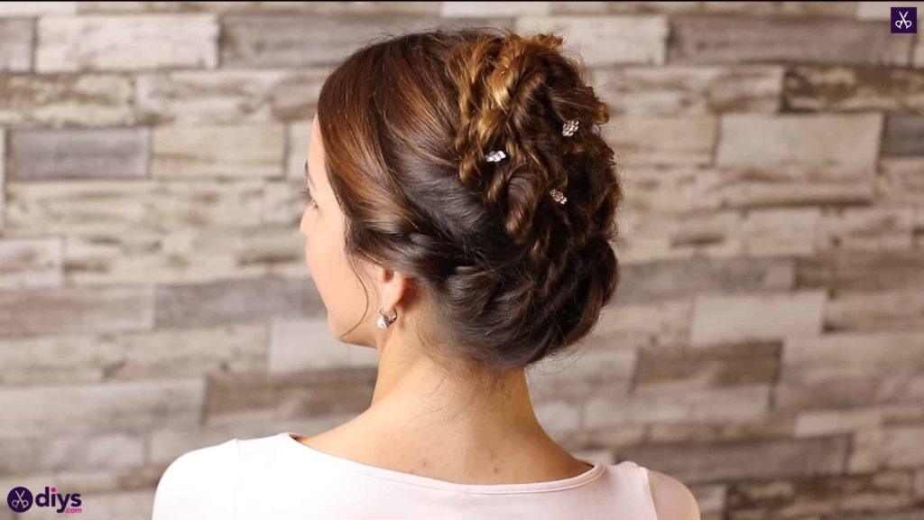 Wedding bun for bridesmaids