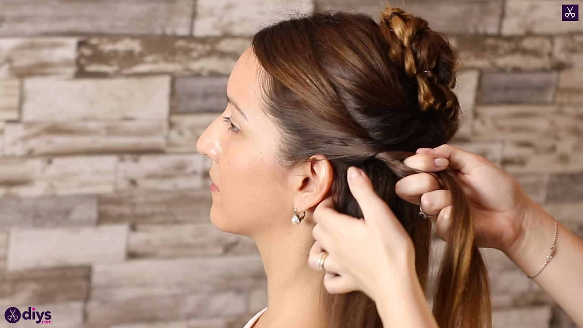 Wedding bun for bridesmaids15