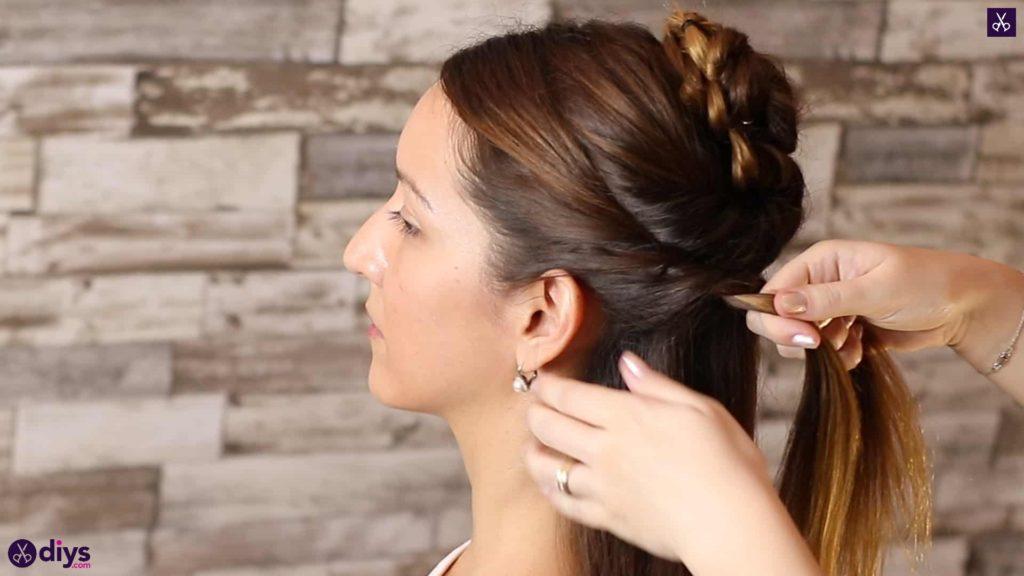 Wedding bun for bridesmaids16