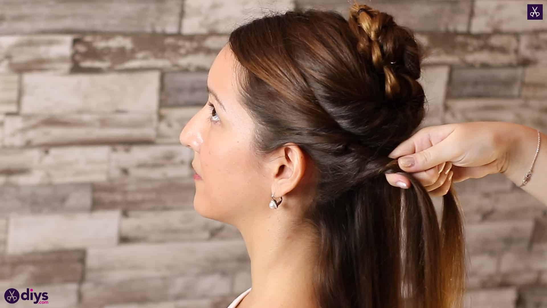 Wedding bun for bridesmaids17