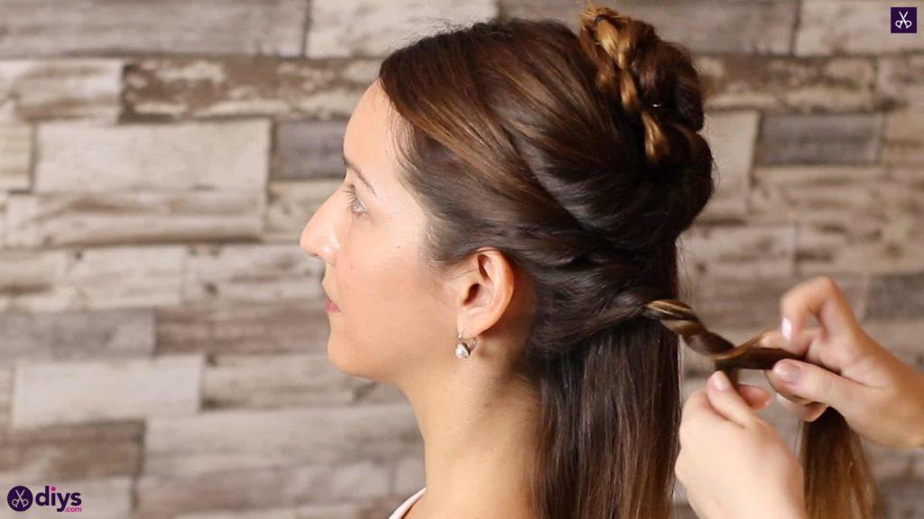 Wedding bun for bridesmaids18