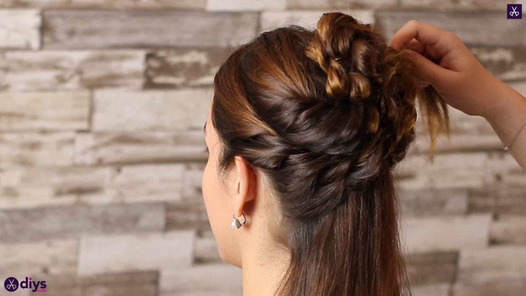 Wedding bun for bridesmaids23