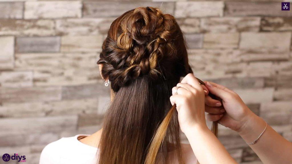 Wedding bun for bridesmaids26