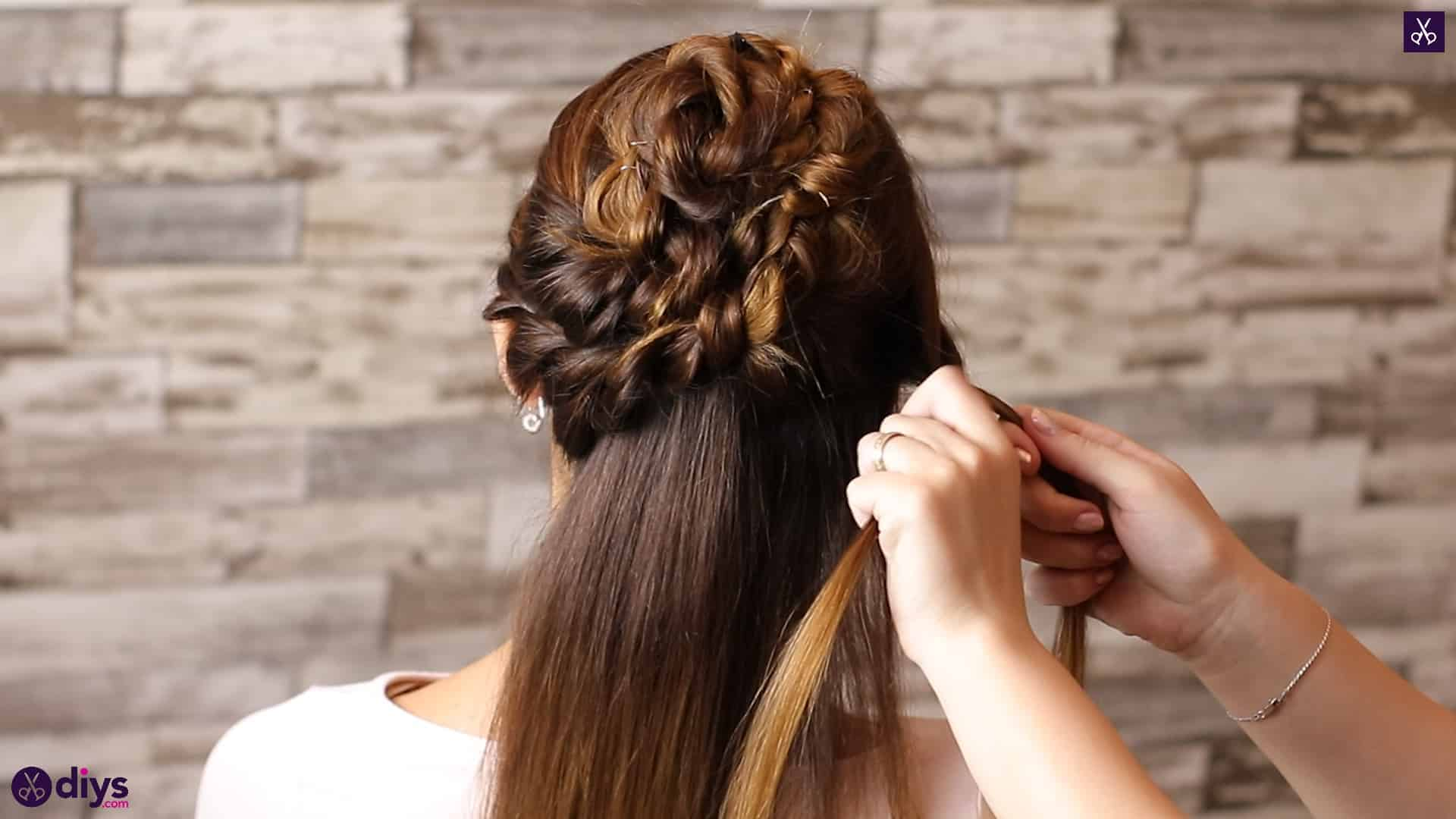 Wedding bun for bridesmaids26