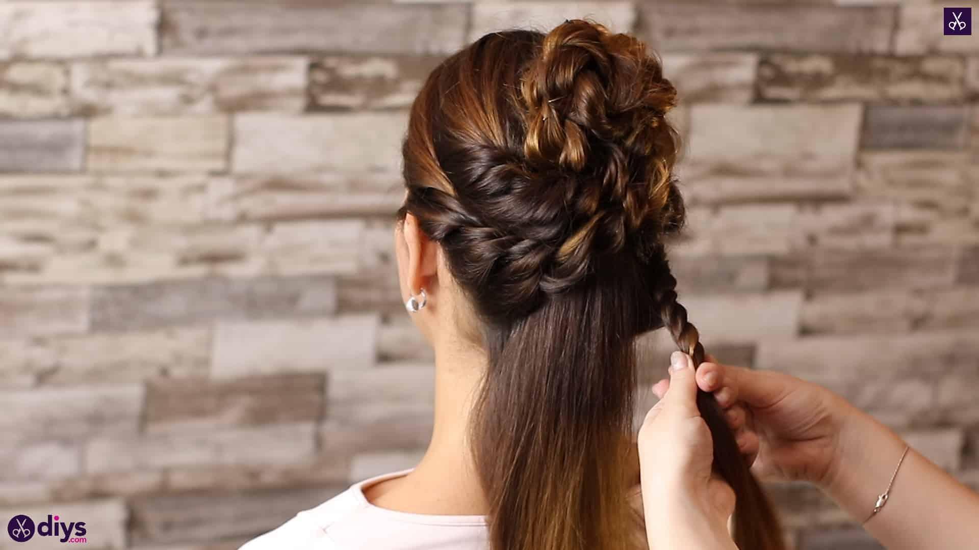 Wedding bun for bridesmaids29
