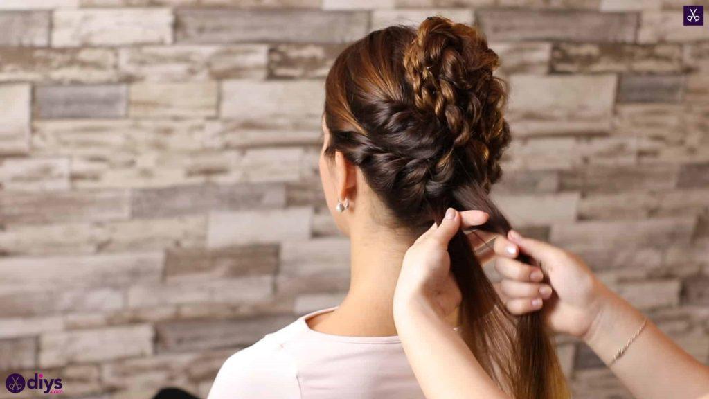 Wedding bun for bridesmaids36