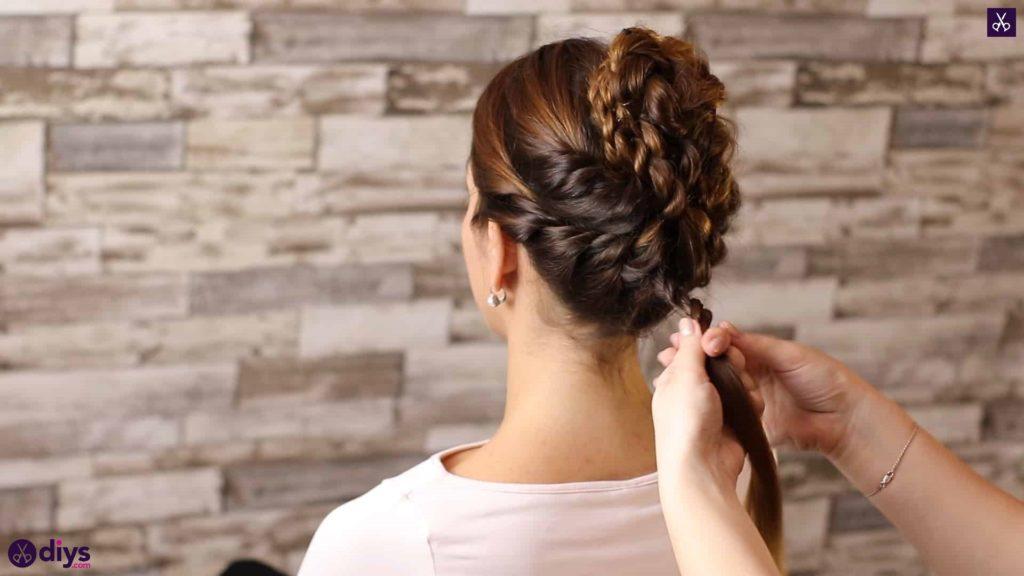 Wedding bun for bridesmaids38