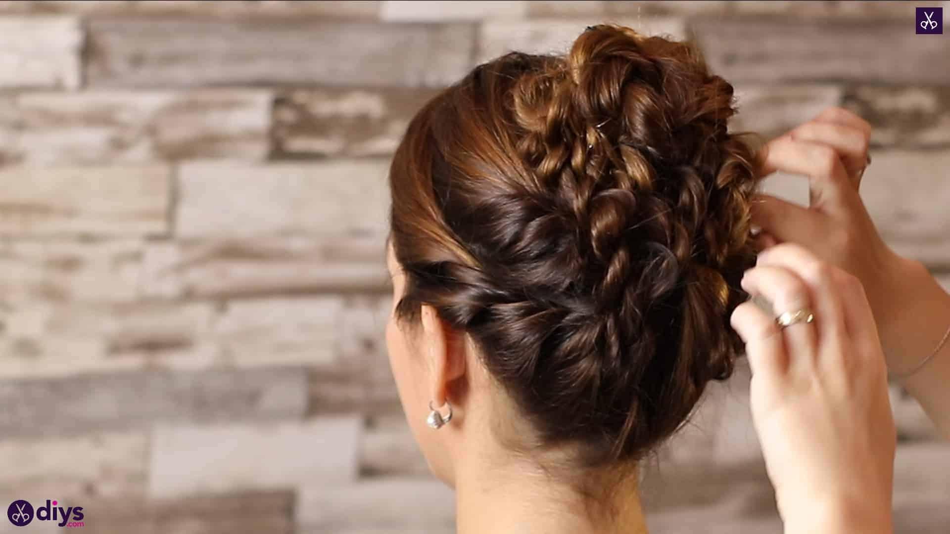 Wedding bun for bridesmaids42
