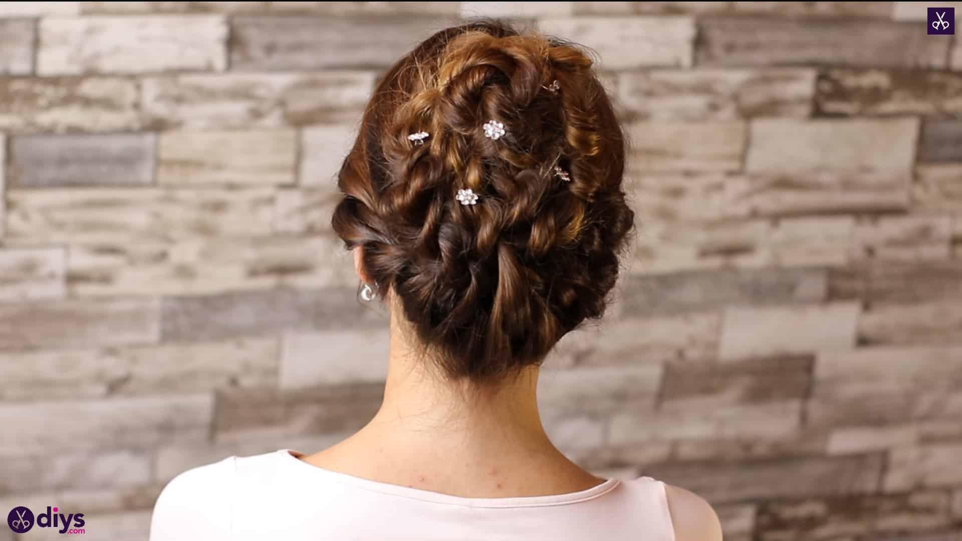 Wedding bun for bridesmaids46