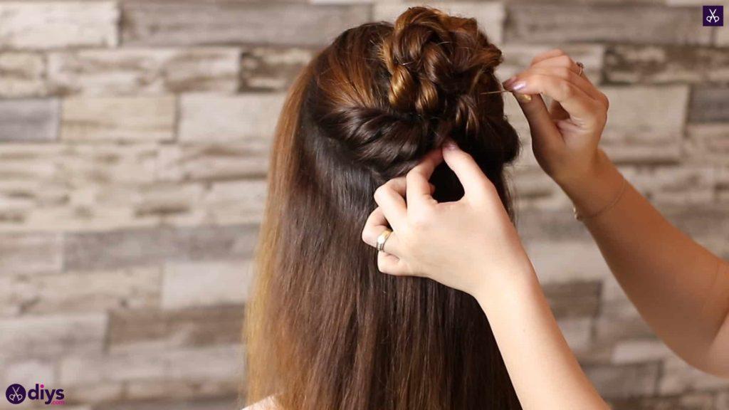 Wedding bun for bridesmaids7