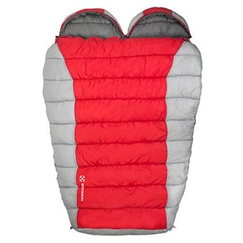 Winterial double mummy sleeping bag for camping