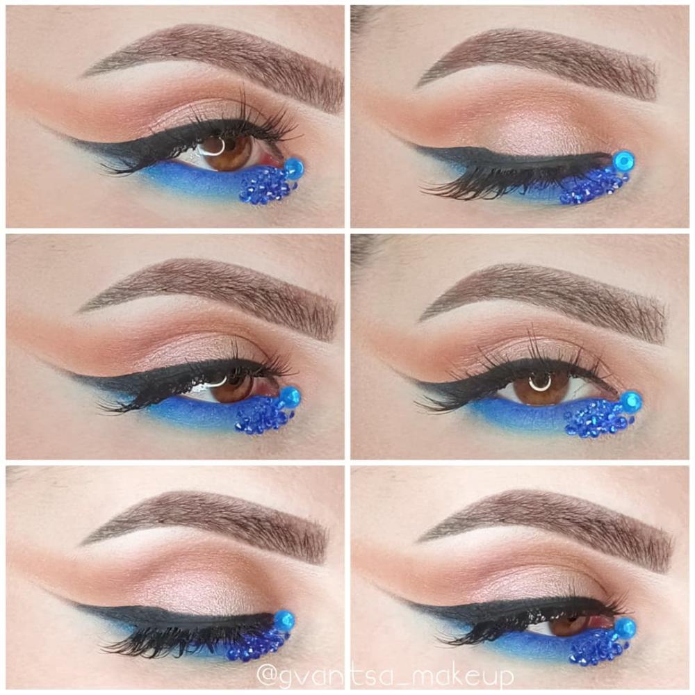 Bedazzled eyeliner design