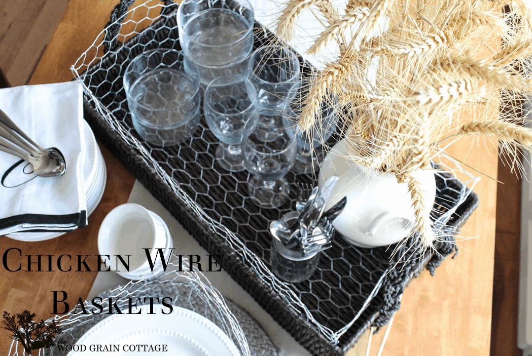 Diy chicken wire baskets