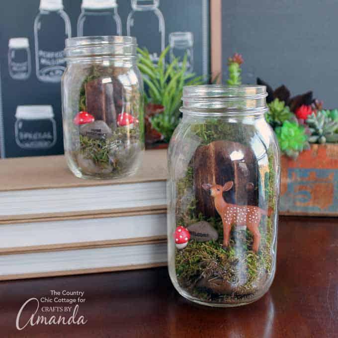 Fairy jar terrarium diy