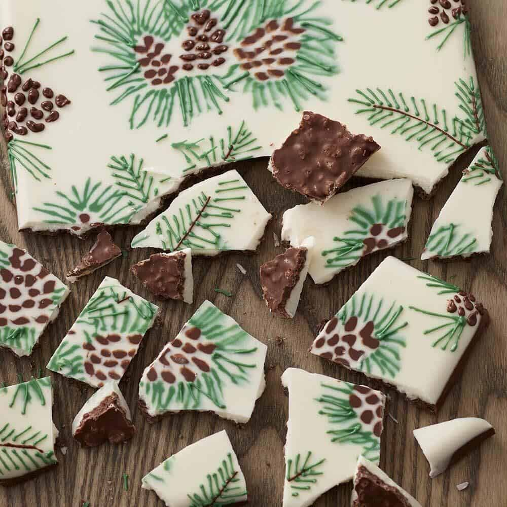 Pine cone candy bark
