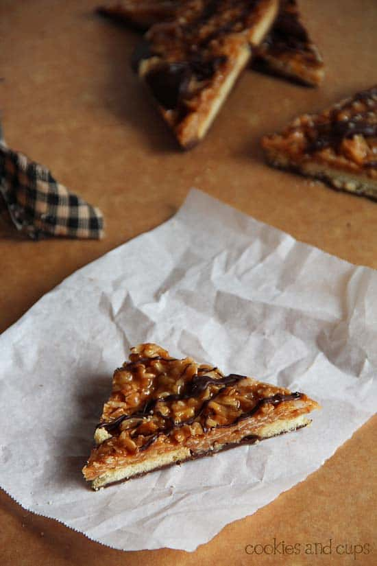 Samoa bark from cookie and cups recipe