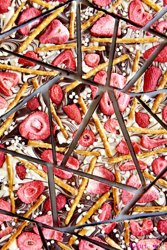 Strawberry pretzel chocolate swirk