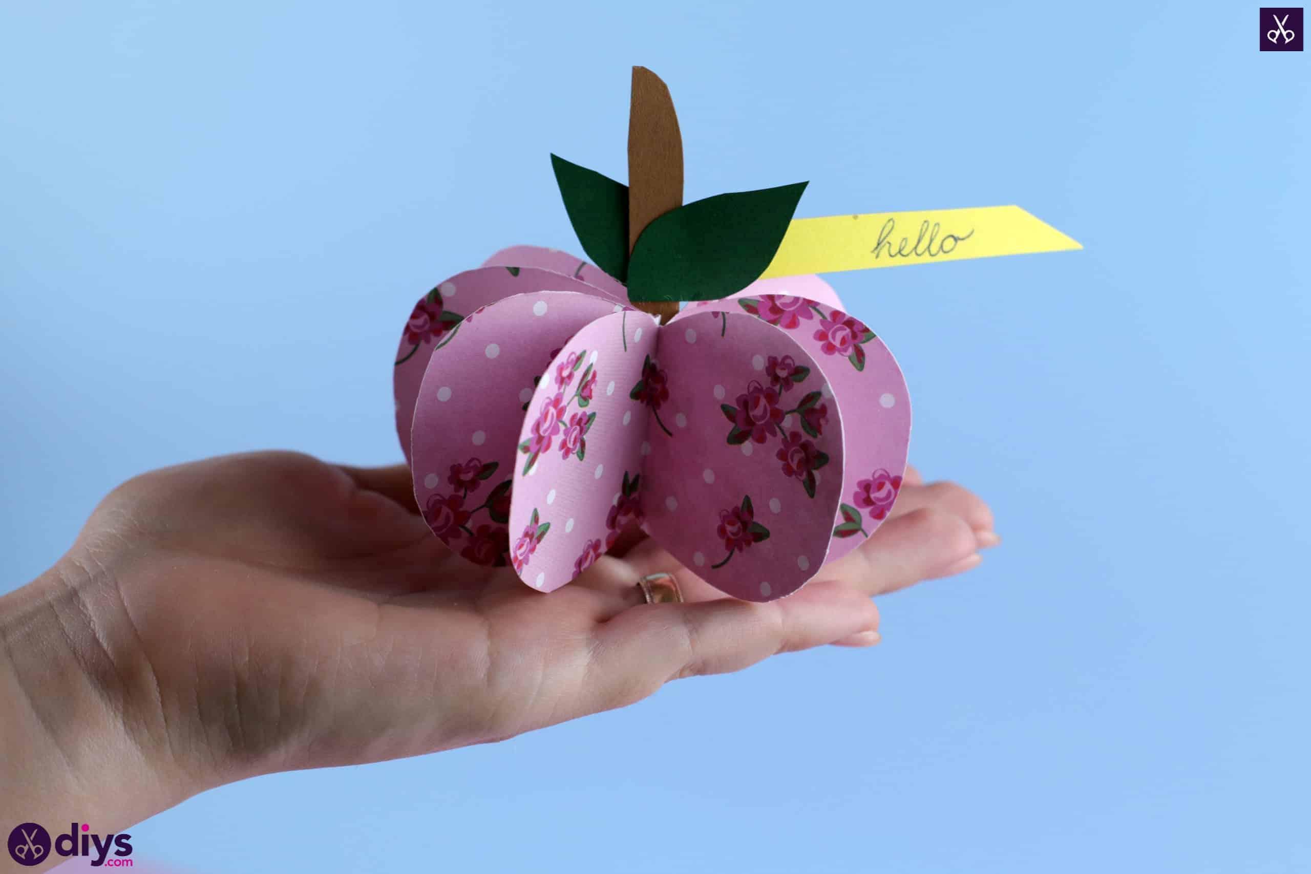 3d paper apple project