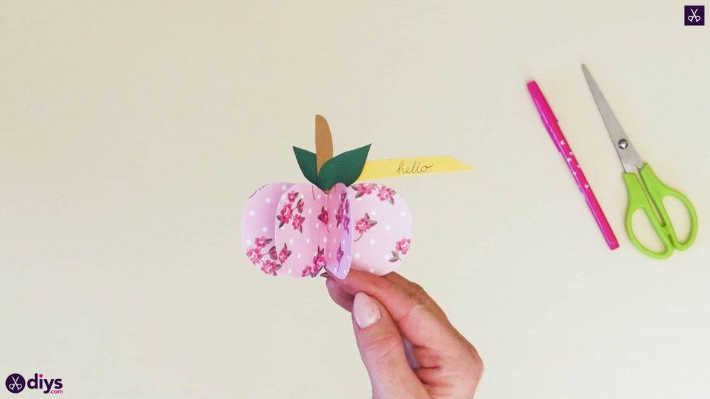 کاغذ 3d سیب مرحله 10a