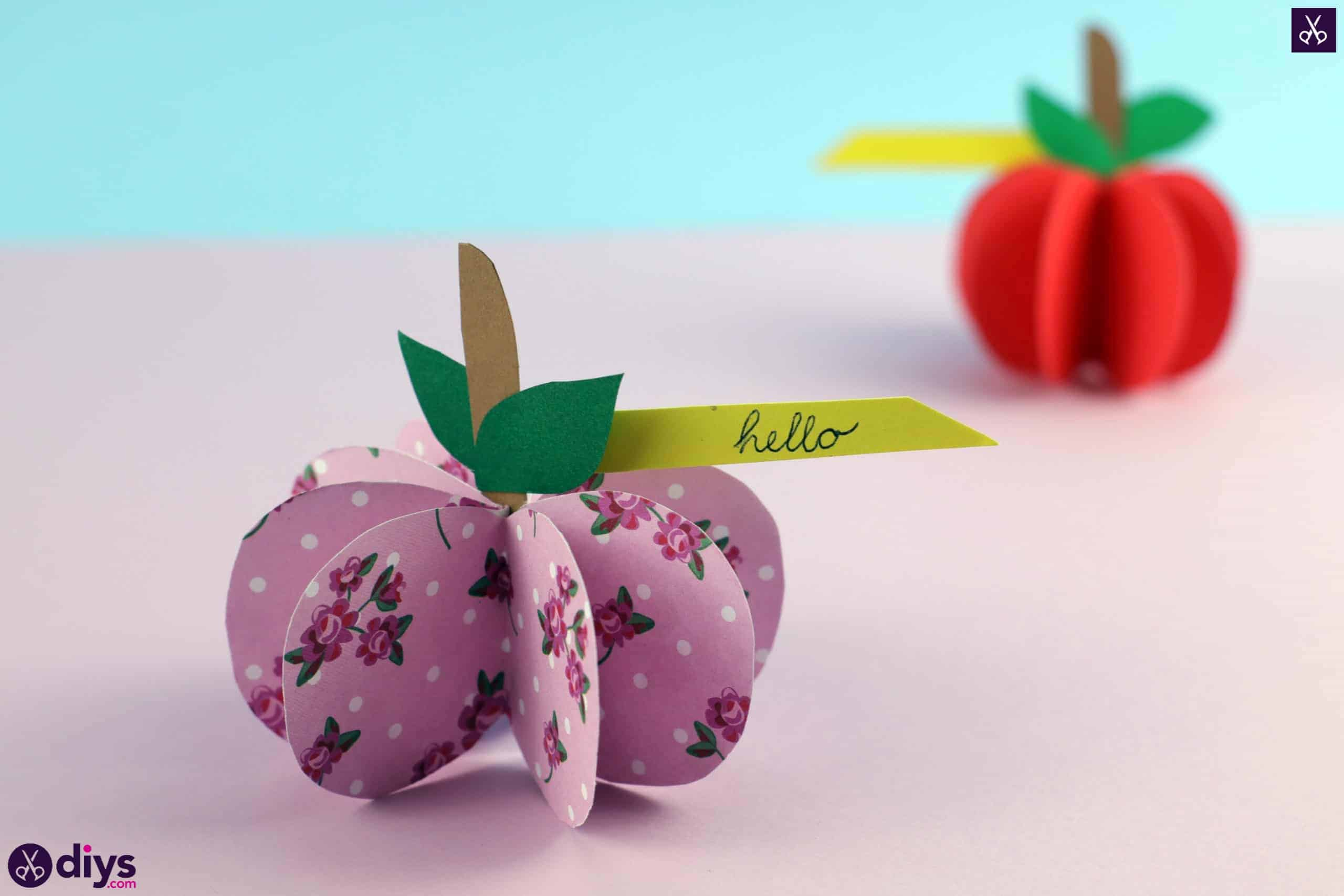 3d paper apple step 10b