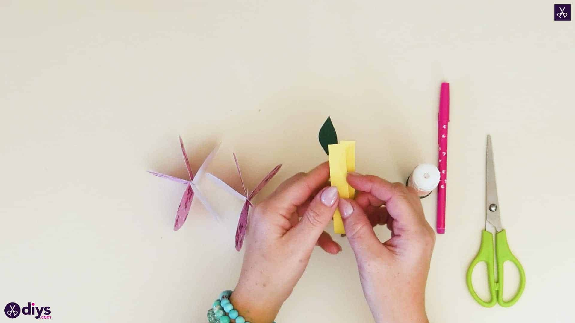 3d paper apple step 7